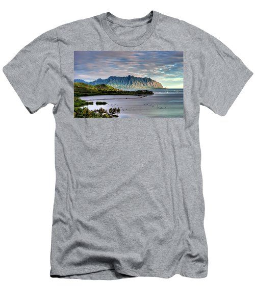 He'eia Fish Pond And Kualoa Men's T-Shirt (Athletic Fit)