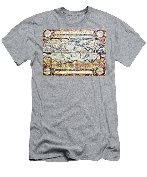 Hemisphere World  Men's T-Shirt (Athletic Fit)