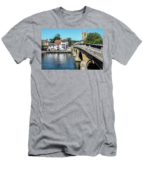 Henley And The Angel On The Bridge Men's T-Shirt (Slim Fit) by Ken Brannen