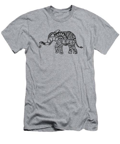 Henna Elephant 1 Men's T-Shirt (Athletic Fit)