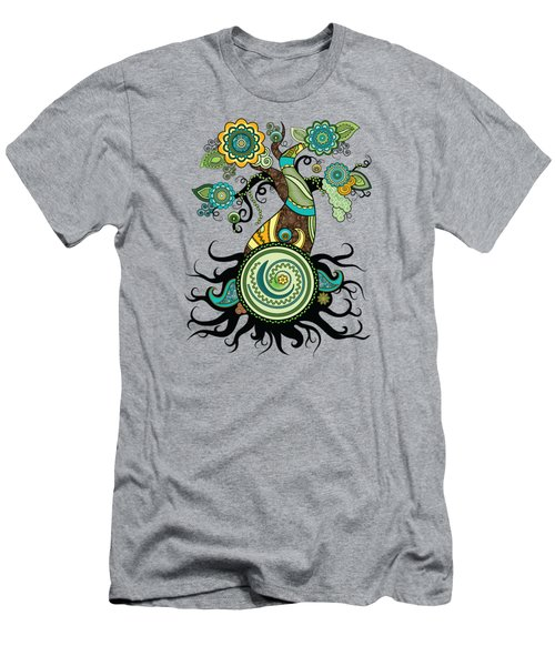 Henna Tree Of Life Men's T-Shirt (Slim Fit) by Serena King