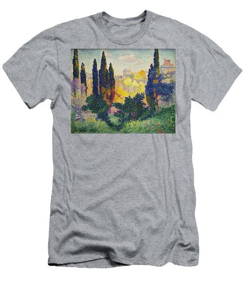 Henri Edmond Cross French Les Cypres A Cagnes Men's T-Shirt (Athletic Fit)