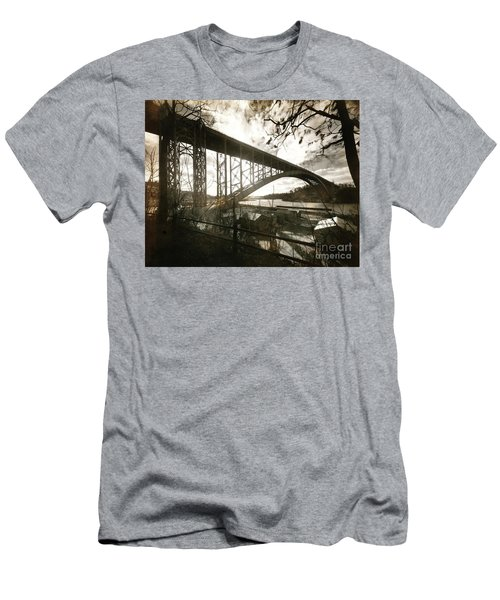 Henry Hudson Bridge, 1936 Men's T-Shirt (Slim Fit) by Cole Thompson