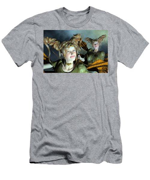 Here Comes Sunshine  Men's T-Shirt (Athletic Fit)