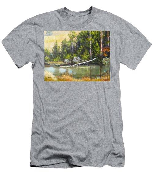 Heron Perch Men's T-Shirt (Athletic Fit)