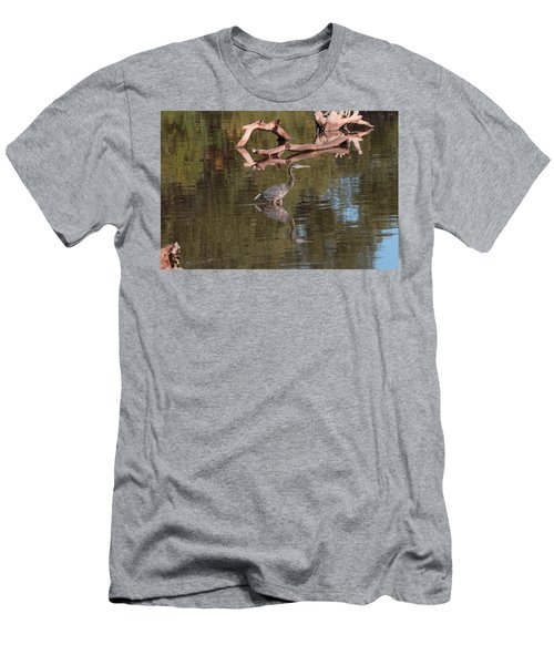 Heron Reflection Men's T-Shirt (Athletic Fit)
