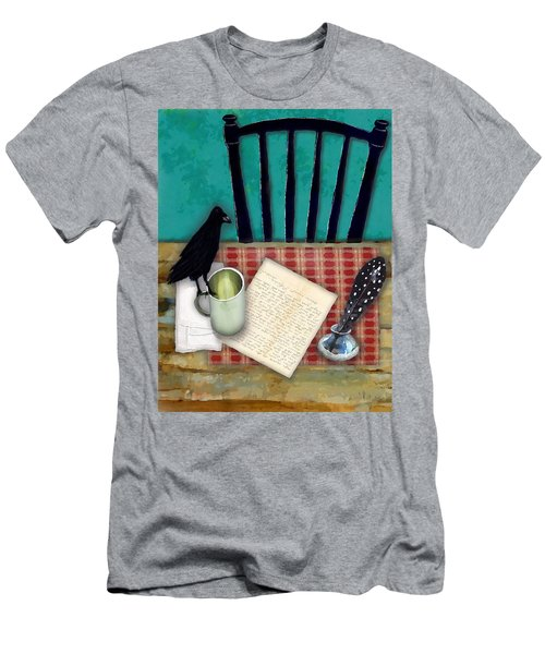 Men's T-Shirt (Slim Fit) featuring the digital art He's Gone by Lisa Noneman