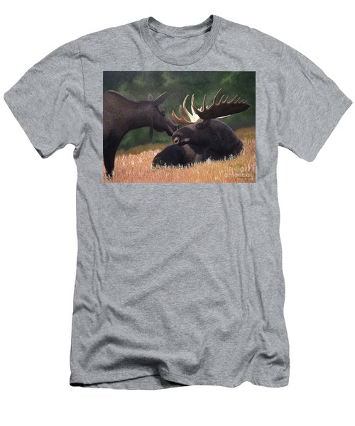 Men's T-Shirt (Athletic Fit) featuring the painting Hesitant by Tracey Goodwin