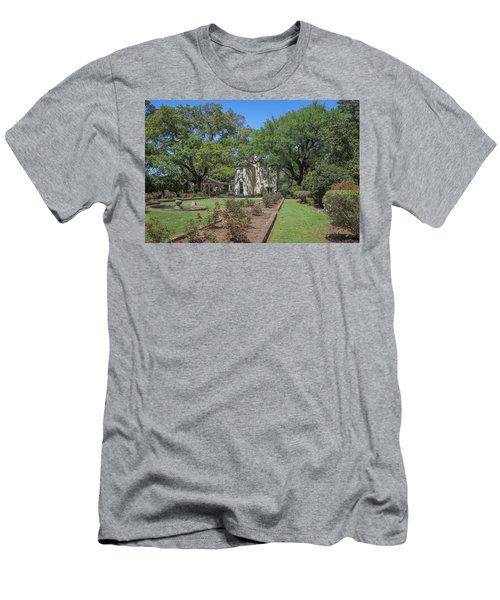 Men's T-Shirt (Slim Fit) featuring the photograph Heyman House Garden 5 by Gregory Daley  PPSA