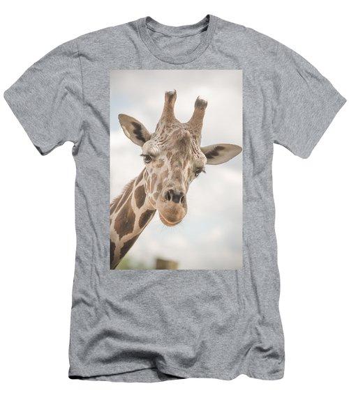 Hi There, I'm A Giraffe Men's T-Shirt (Slim Fit) by David Collins