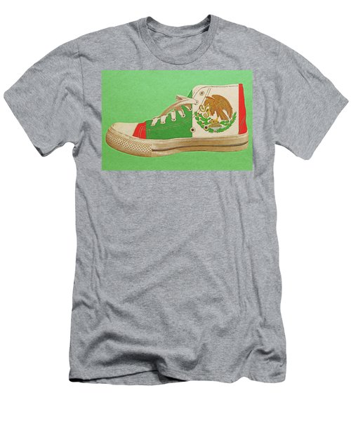 Men's T-Shirt (Athletic Fit) featuring the digital art Hi Top With Mexican Flag by Anthony Murphy