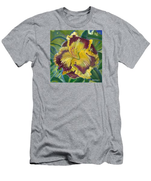 Men's T-Shirt (Slim Fit) featuring the painting Hibiscus 2 by John Keaton