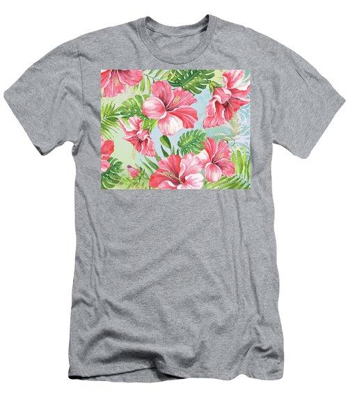 Hibiscus Paradise-jp3966 Men's T-Shirt (Athletic Fit)