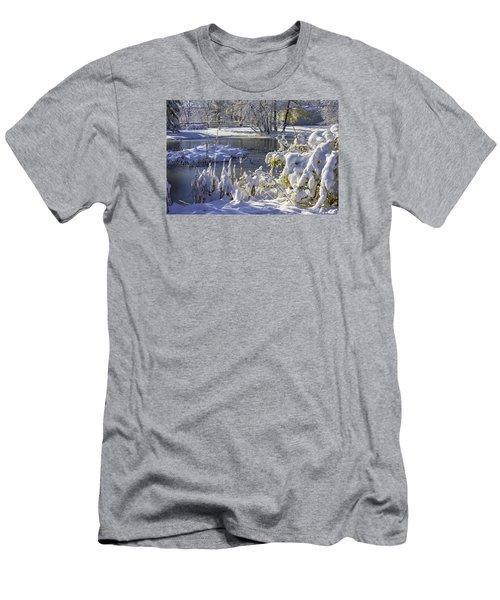 Hickory Nut Grove Landscape Men's T-Shirt (Slim Fit) by Raymond Kunst