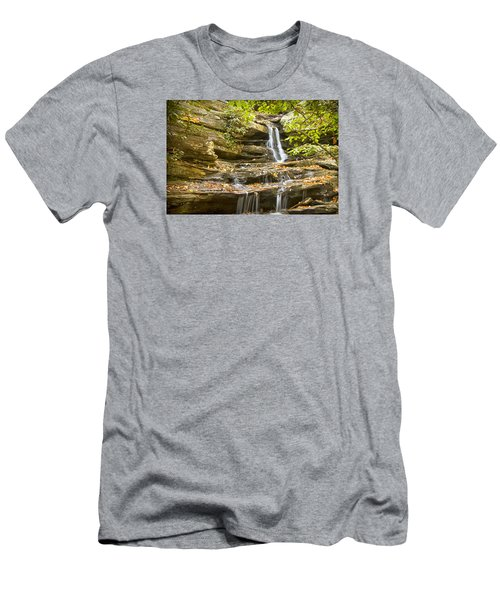 Men's T-Shirt (Slim Fit) featuring the photograph Hidden Falls-hanging Rock State Park by Bob Decker