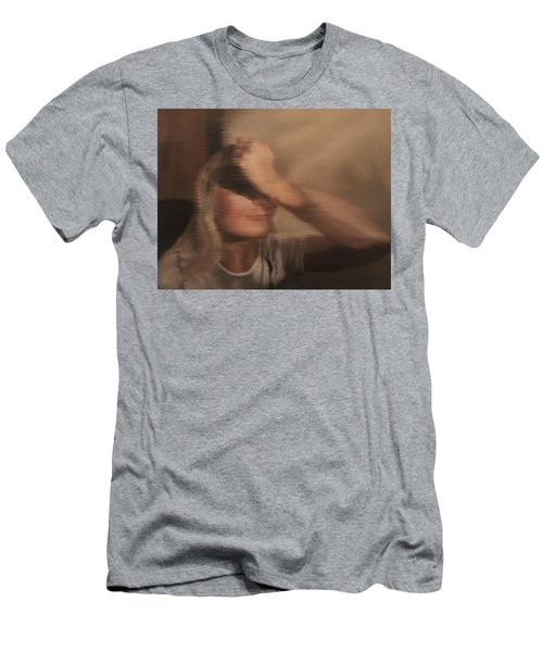 Men's T-Shirt (Slim Fit) featuring the painting Hidden Gaze by Cherise Foster