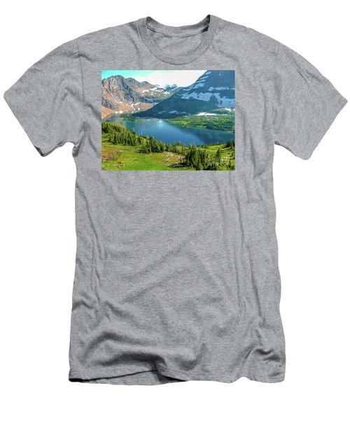 Hidden Lake Glacier National Park Men's T-Shirt (Athletic Fit)