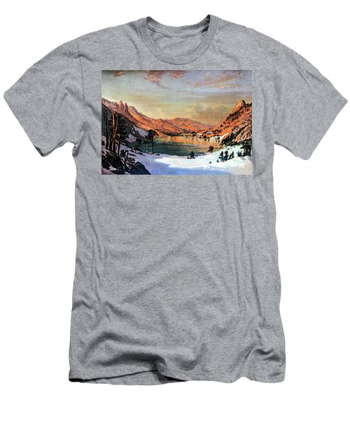 Hidden Lake Western United States Men's T-Shirt (Athletic Fit)