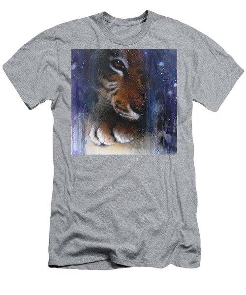 Hidden Tiger Men's T-Shirt (Athletic Fit)