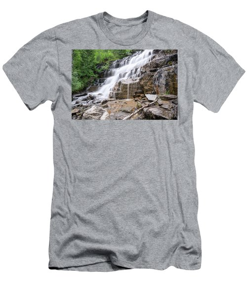 Men's T-Shirt (Athletic Fit) featuring the photograph Hidden Waterfalls by Margaret Pitcher