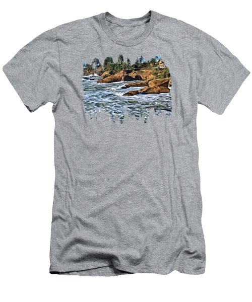 High Tide At Arch Rock Men's T-Shirt (Athletic Fit)