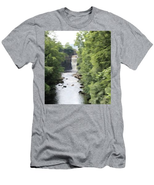 Men's T-Shirt (Athletic Fit) featuring the photograph Highforce Waterfall by JLowPhotos