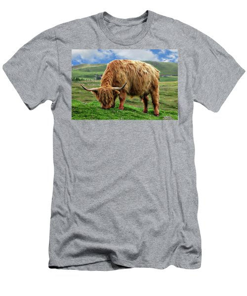 Highland Cow Men's T-Shirt (Slim Fit) by Anthony Dezenzio