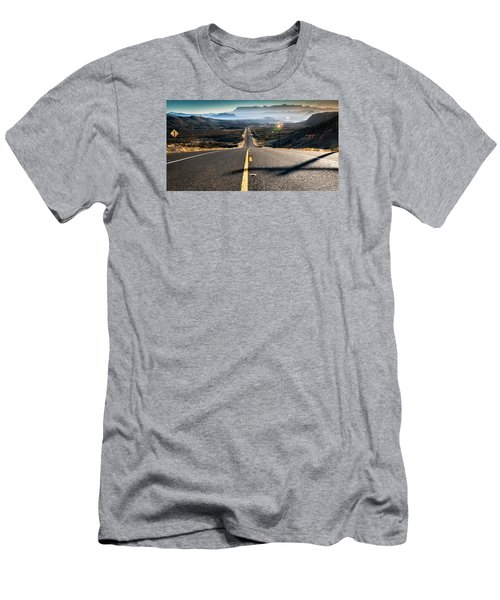 Highway 170 To Big Bend Men's T-Shirt (Slim Fit) by Allen Biedrzycki