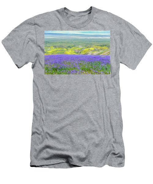 Hike To The Top Of Temblor Range Men's T-Shirt (Slim Fit) by Marc Crumpler