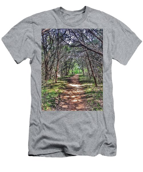 Hiking Meridian State Park  Men's T-Shirt (Slim Fit) by Debra Martz