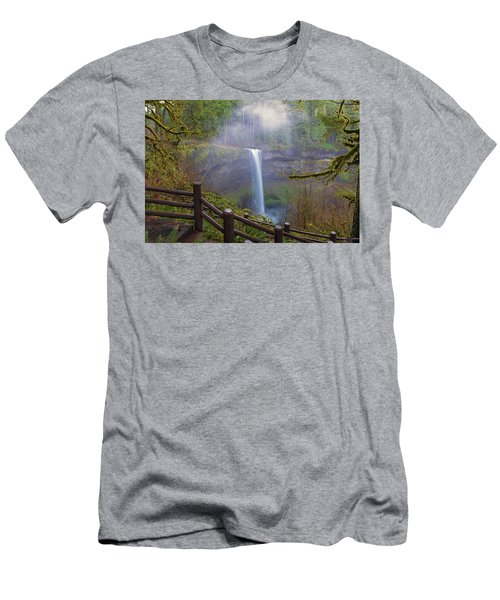 Hiking Trails At Silver Falls State Park Men's T-Shirt (Athletic Fit)