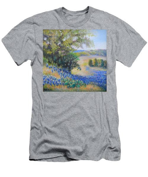 Hill Country View Men's T-Shirt (Slim Fit) by Patti Gordon