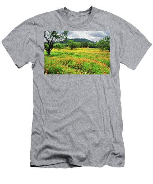 Hill Country Wildflowers Men's T-Shirt (Slim Fit) by Lynn Bauer