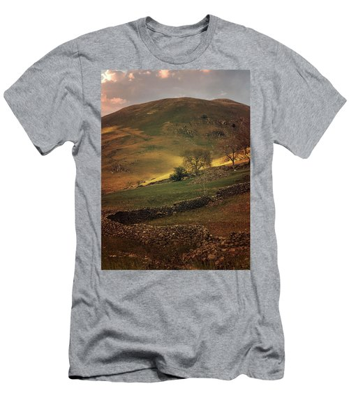 Hills Of Scotland At The Sunset Men's T-Shirt (Slim Fit) by Jaroslaw Blaminsky