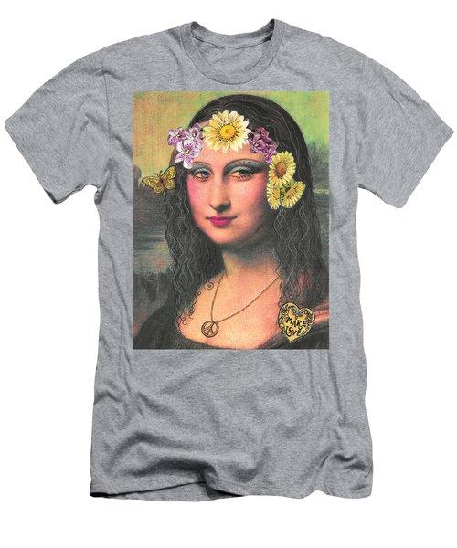 Hippie Gioconda Men's T-Shirt (Athletic Fit)