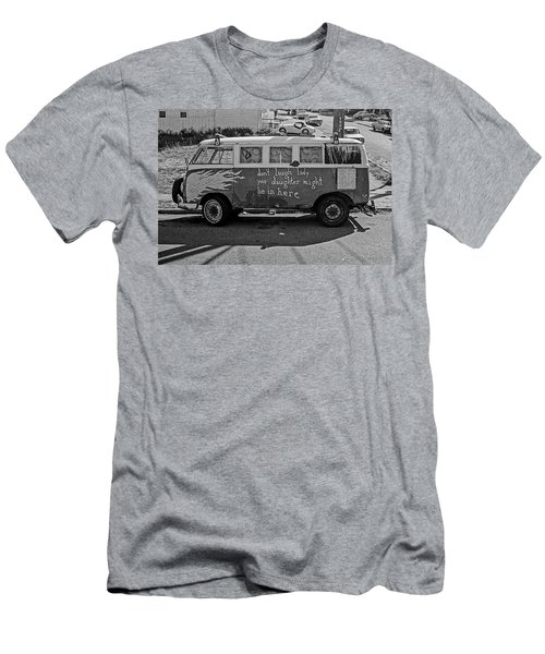 Men's T-Shirt (Athletic Fit) featuring the photograph Hippie Van, San Francisco 1970's by Frank DiMarco