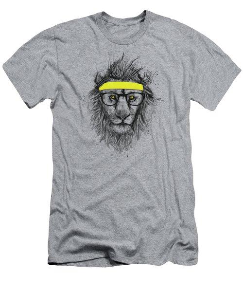 Hipster Lion Men's T-Shirt (Athletic Fit)