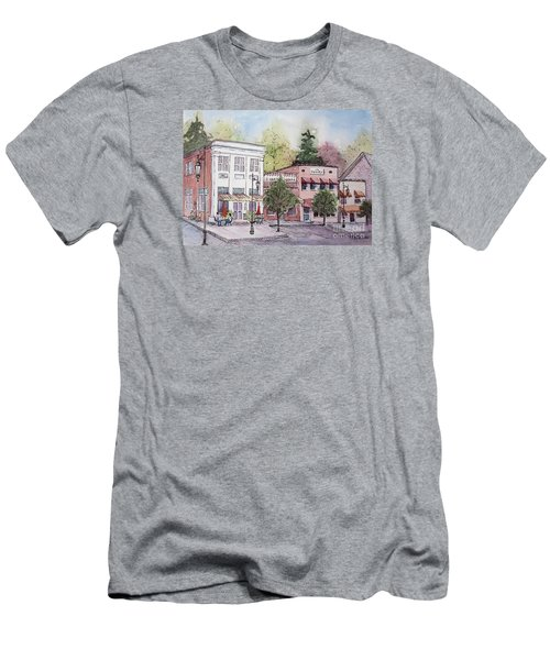 Historic Blue Ridge, Georgia Men's T-Shirt (Slim Fit) by Gretchen Allen