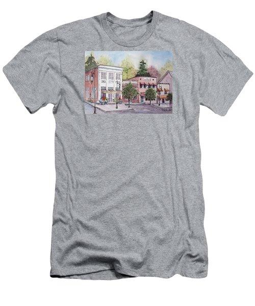 Men's T-Shirt (Slim Fit) featuring the painting Historic Blue Ridge, Georgia by Gretchen Allen