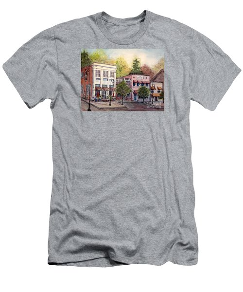 Historic Blue Ridge Shops Men's T-Shirt (Slim Fit) by Gretchen Allen