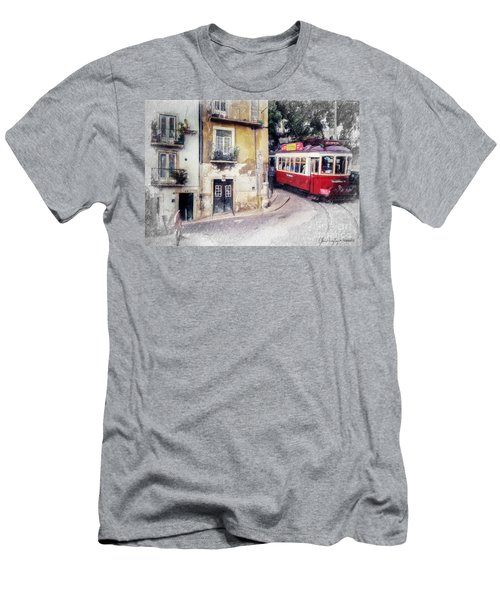Historic Lisbon Tram Men's T-Shirt (Athletic Fit)