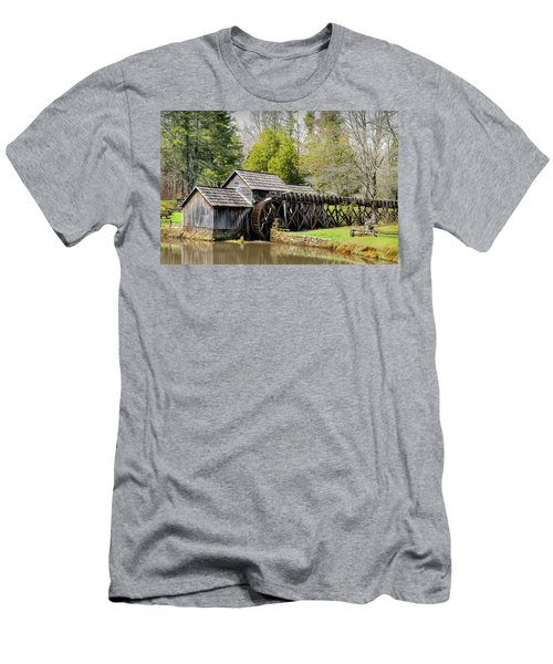 Historic Mabry Mill In Early Spring Men's T-Shirt (Athletic Fit)