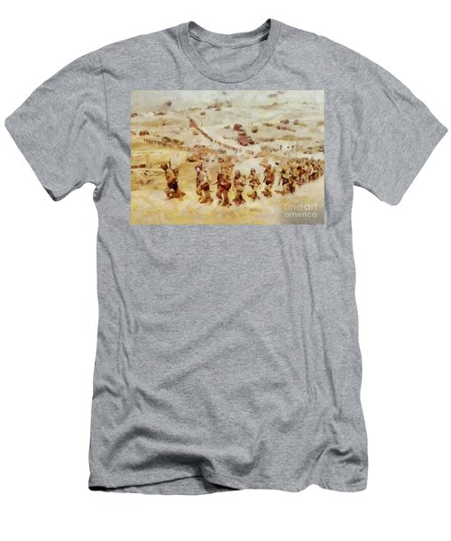 History In Color. D Day, Omaha Beach, Wwii Men's T-Shirt (Athletic Fit)