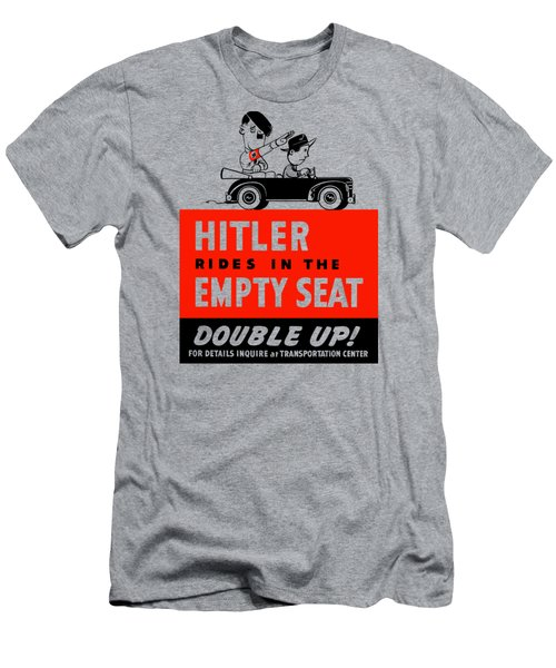 Men's T-Shirt (Slim Fit) featuring the painting Hitler Rides In The Empty Seat by War Is Hell Store