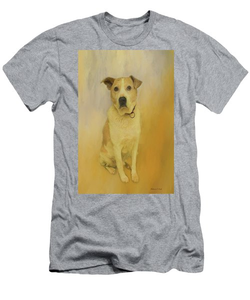 Men's T-Shirt (Athletic Fit) featuring the photograph Hobbit The Harrier Hound by Bellesouth Studio