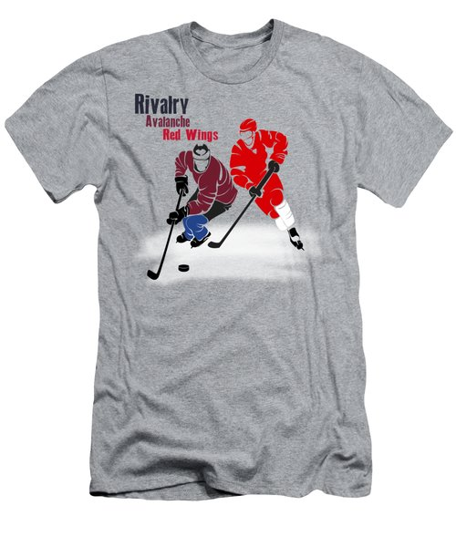 Hockey Rivalry Avalanche Red Wings Shirt Men's T-Shirt (Athletic Fit)