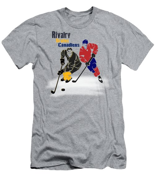 Hockey Rivalry Bruins Canadiens Shirt Men's T-Shirt (Athletic Fit)