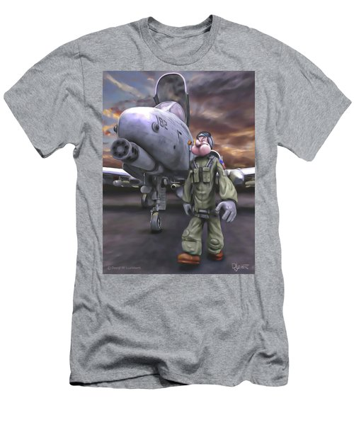 Men's T-Shirt (Slim Fit) featuring the painting Hogman by Dave Luebbert