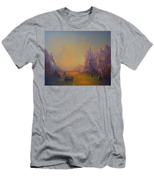 Hogwarts Castle Men's T-Shirt (Slim Fit) by Joe Gilronan