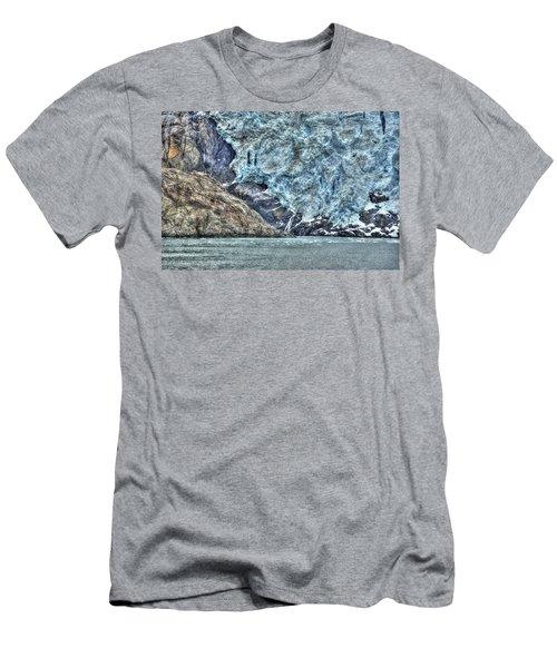 Holgate Glacier Hdr Men's T-Shirt (Slim Fit)
